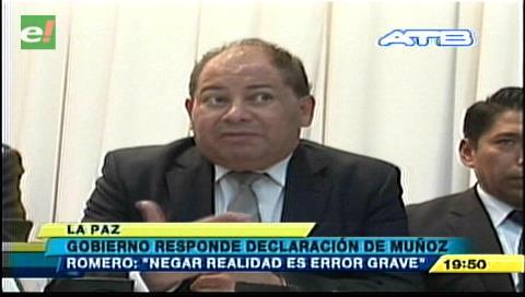 "Romero a Canciller Muñoz: ""Me parece que comete un error"""