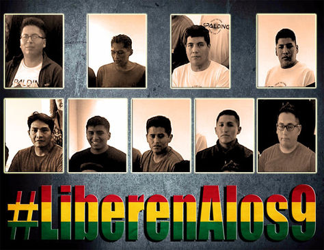 Imágen de los bolivianos detenidos en Chile.