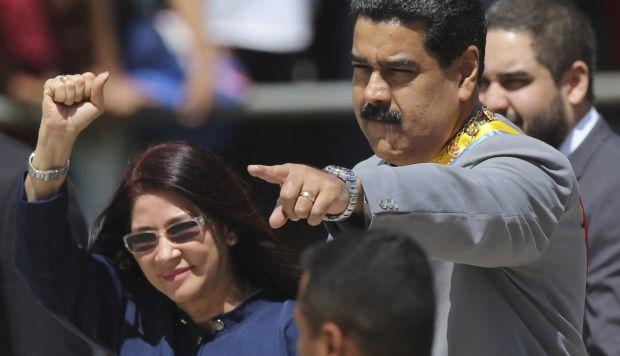 Nicolás Maduro y su esposa Cilia Flores.