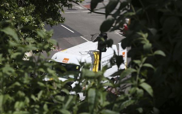 El vehículo utilizado por los terroristas (AP)