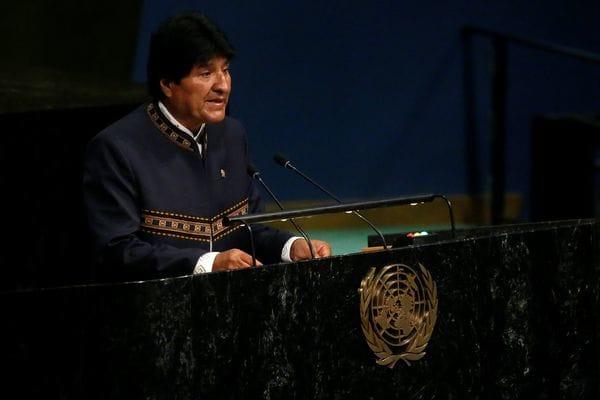 El presidente boliviano Evo Morales durante su intervención en la ONU este lunes (Reuters)