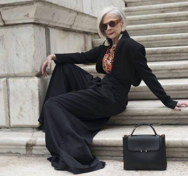 Lyn Slater, académica de la Universidad de Fordham, nunca pensóque se convertiría en una celebridad fashion. (Cortesía: Calvin Lom)