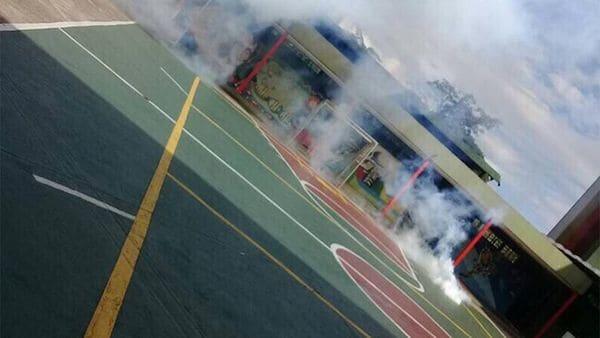 La GNB lanzó las bombas lacrimógenas durante la hora del recreo