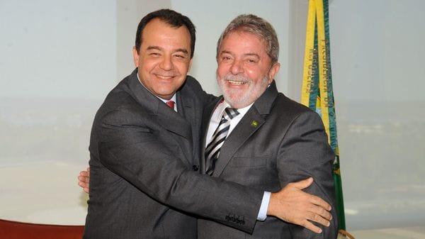 Sergio Cabral junto a Lula da Silva (AFP)