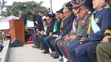 El presidente Evo Morales participa en los 82 años del Cese de hostilidades de la Guerra del Chaco en Villamontes.