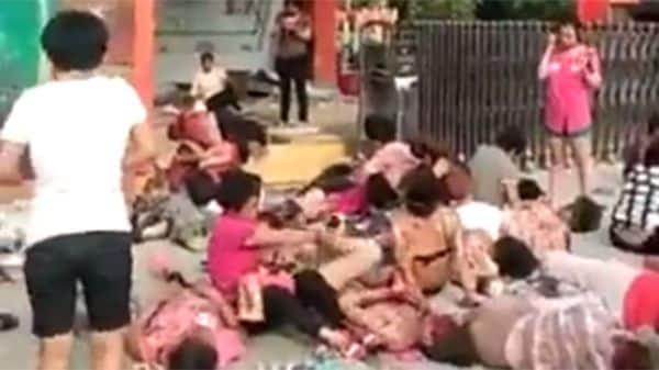 Decenas de personas heridas y ocho muertos dejó la tragedia en el jardín de infantes.