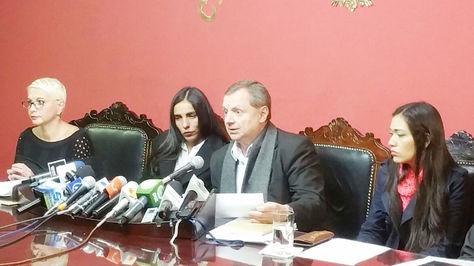 Conferencia de prensa de las Comisiones Mixtas de Constitución y Justicia Plural del Senado y Diputados.