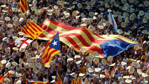 Manifestaciones en Cataluña por su separación de España (Reuters)
