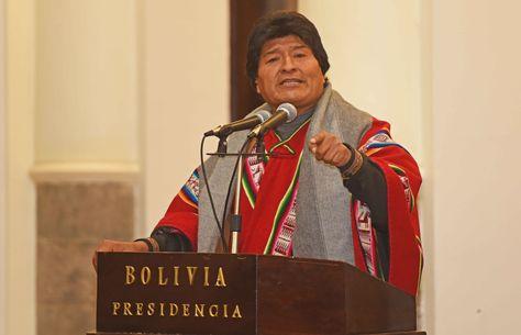 El presidente Evo Morales durante un acto en el Palacio de Gobierno el 16 de junio de 2017. (Foto: ABI)