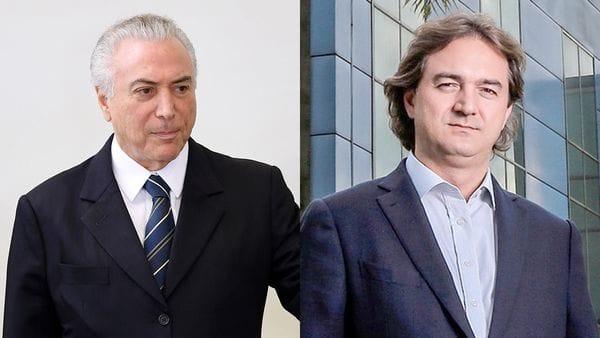 Michel Temer y Joesley Batista