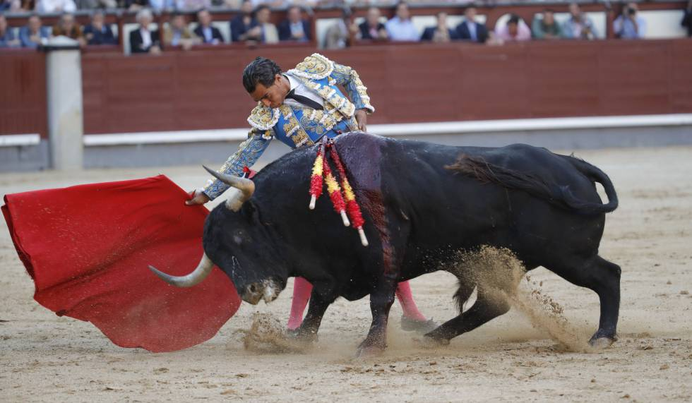 Ivan Fandiño, en una corrida en Madrid el pasado 29 de mayo.