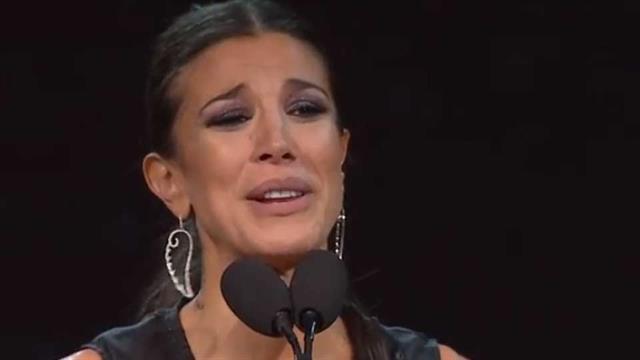 Andrea Rincón, emocionada por su premio revelación