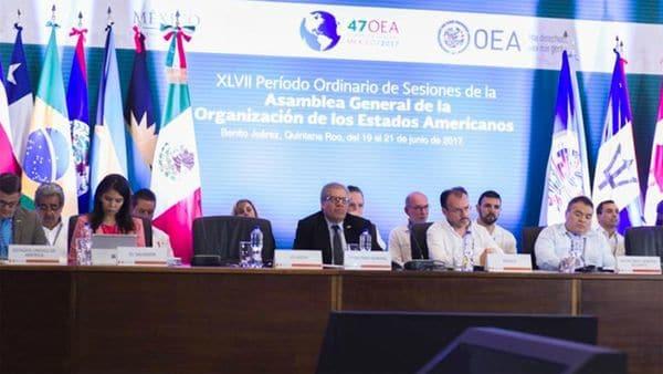 La sesión de cancilleres de la OEA se llevó a cabo en Cancún