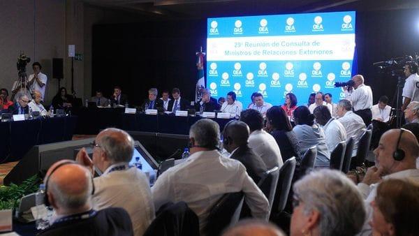 El caso Venezuela ha desatado intensos debates entre la delegación venezolana y países críticos de Nicolás Maduro (EFE)