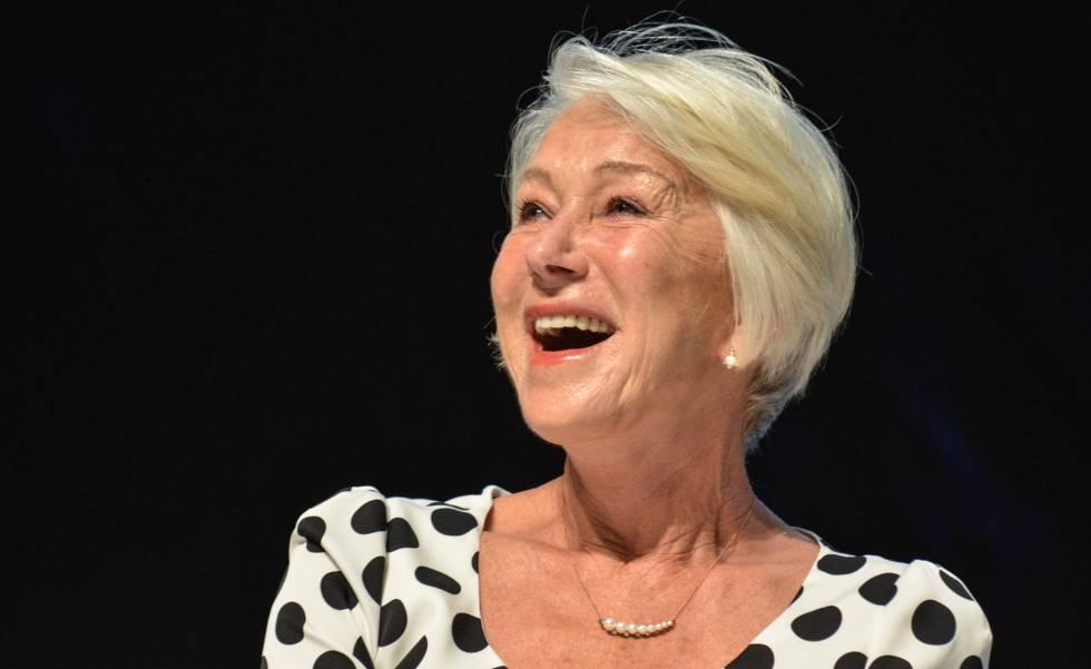 La actriz Helen Mirren en el Cannes Lions Festival este miércoles.