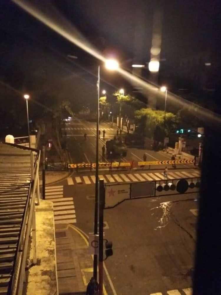 Así se encuentra el paso a Miraflores