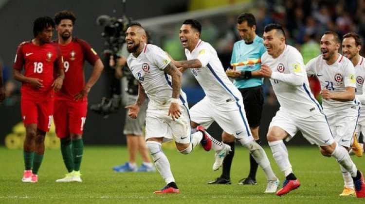 Chile clasificó por penales a la final de la Copa Confederaciones (Reuters)