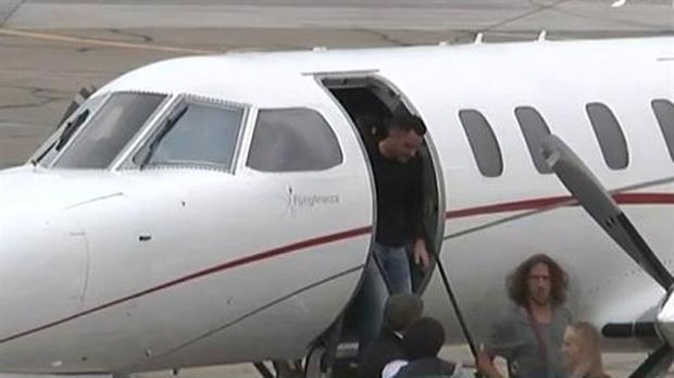Puyol y Xavi llegaron en el mismo vuelo