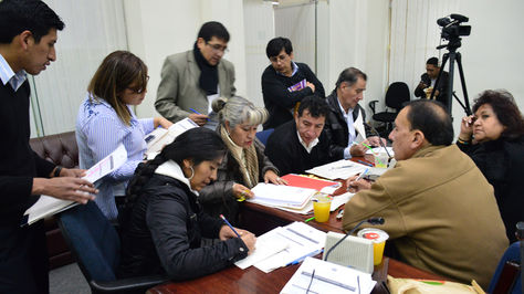 Trabajo de la Comisión Mixta de Justicia Plural.