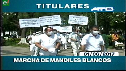 Video titulares de noticias de TV – Bolivia, mediodía del jueves 1 de junio de 2017