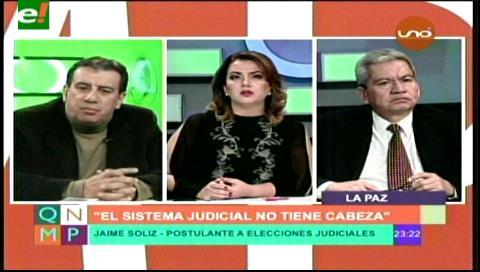 Tapia Pachi y Soliz candidatos al Poder Judicial
