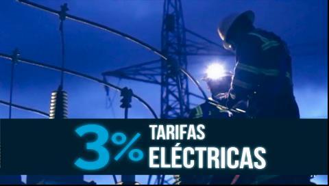 Gobierno explica que ajuste del 3% en tarifa de electricidad no es un tarifazo