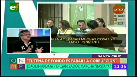 Marcha en rechazo a la corrupción en el Fútbol boliviano dice: «¡Basta Ya!»
