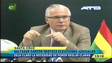 Baltazar Garzón destaca las elecciones judiciales en Bolivia