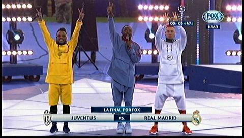 Black Eyed Peas hace gala de su música en la final de la Champions League