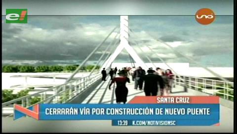 Cerrarán un carril del segundo anillo por construcción de un puente en la Uagrm