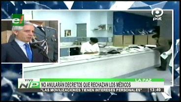 Gobierno no revisará gratuidad del certificado médico ni la creación de la Autoridad de Salud