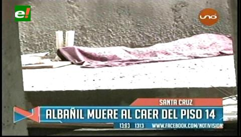 Santa Cruz: Albañil muere al caer del piso 14 de un edificio