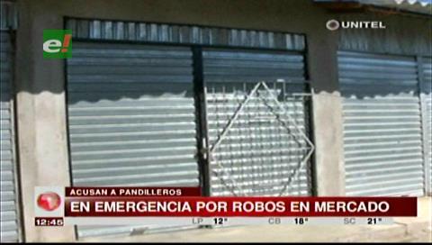 Delincuentes roban productos de cinco puestos del mercado Amboró