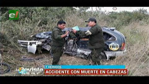 Un fallecido y siete heridos tras accidente entre Cabezas y Abapó
