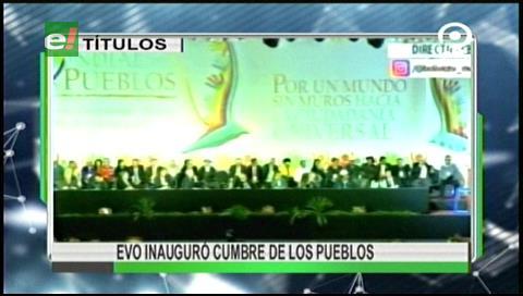 Video titulares de noticias de TV – Bolivia, mediodía del martes 20 de junio de 2017