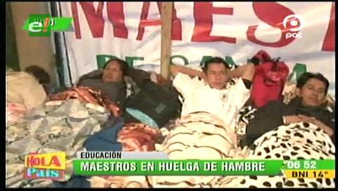 Dos bajas en la huelga de hambre de los maestros