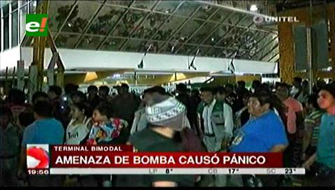 Evacuaron la Bimodal por amenaza de bomba