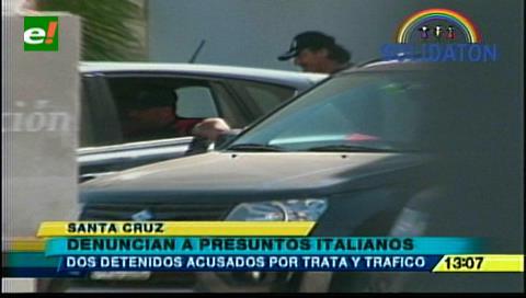 Detienen a dos presuntos italianos acusados de trata y tráfico