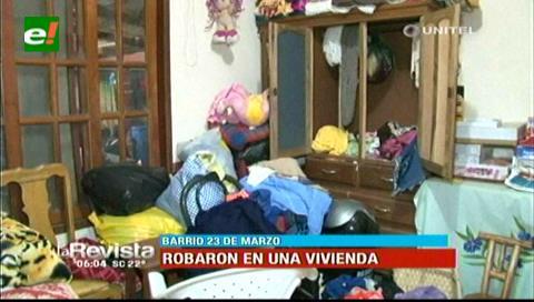 Delincuentes roban en un domicilio y se llevan dinero, joyas y electrodomésticos