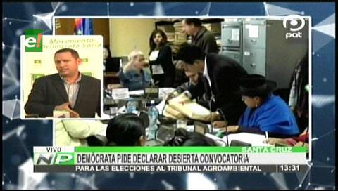 Diputado Dorado pide declarar desierta la convocatoria al Tribunal Agroambiental