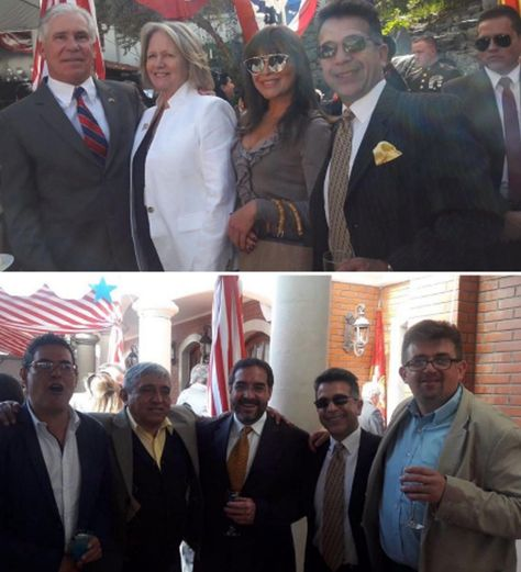 Fotos que publicó en Twitter el presidente Evo Morales para cuestionar que la derecha