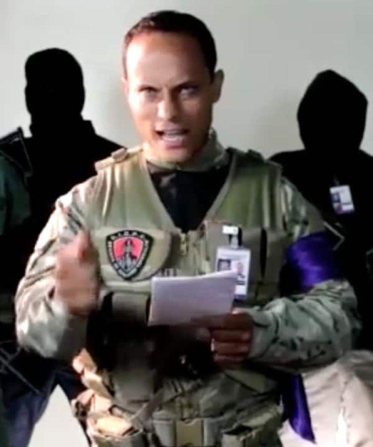 Captura de imágen del mensaje con el que Oscar Pérez reivindicó el ataque contra el Tribunal Supremo