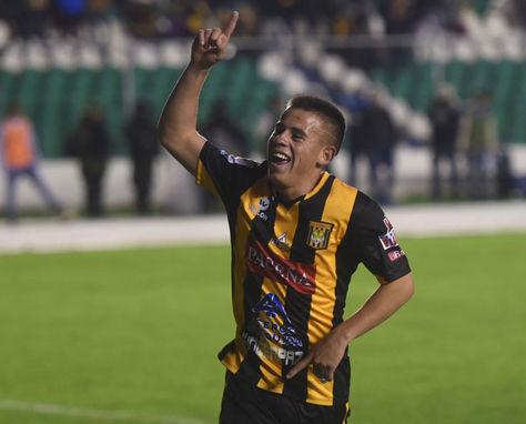 Henry Vaca anotó el único gol del partido. Foto: archivo La Razón