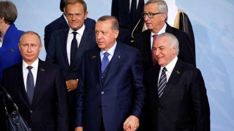 Temer cerca de Erdogan y Putin (Reuters)