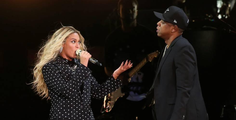 Beyoncé y Jay-Z, en un concierto en Ohio, en 2016.