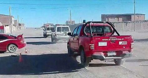 El vehículo que uso la Policía Boliviana para trasladar a los dos carabineros chilenos. Fue el domingo.