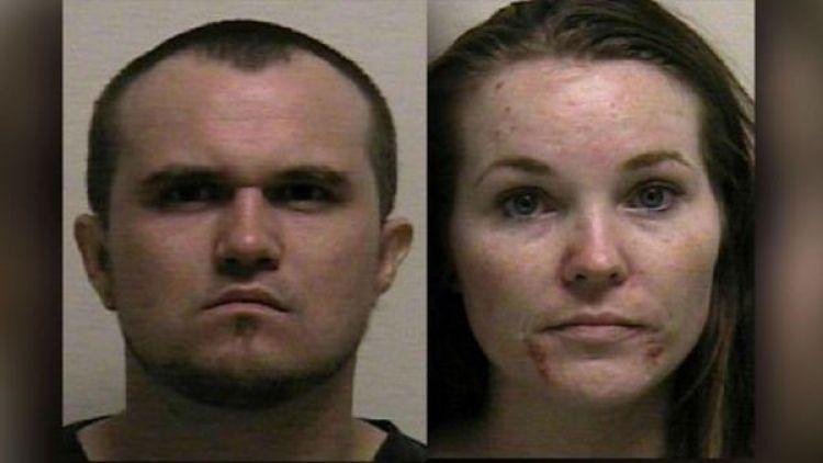 Colby Glen Wilde, de 29 años, y Lacey Dawn Christenson, de 26, la pareja detenida por drogar a su hija (Utah County)