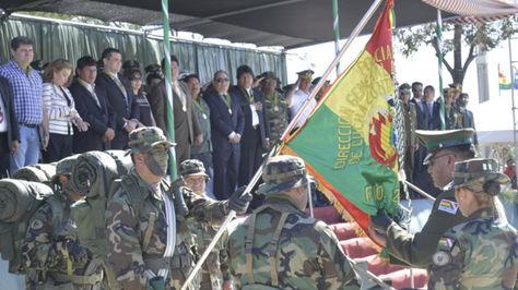 El presidente Evo Morales participa del aniversario de la FELCN. Foto:Ministerio de Comunicación
