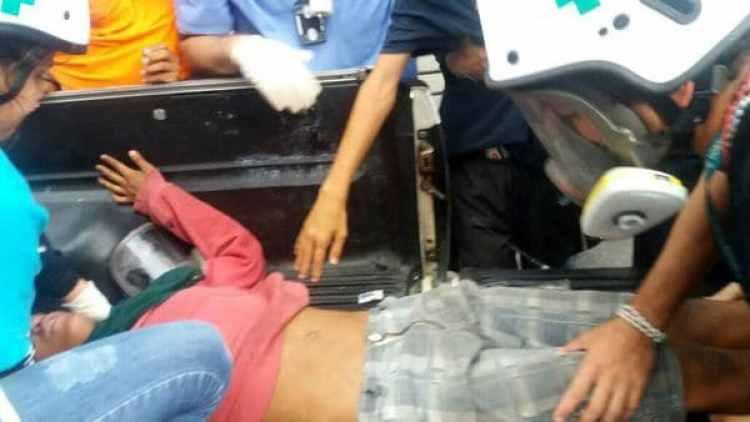Dos personas resultaron heridas por la represión chavista