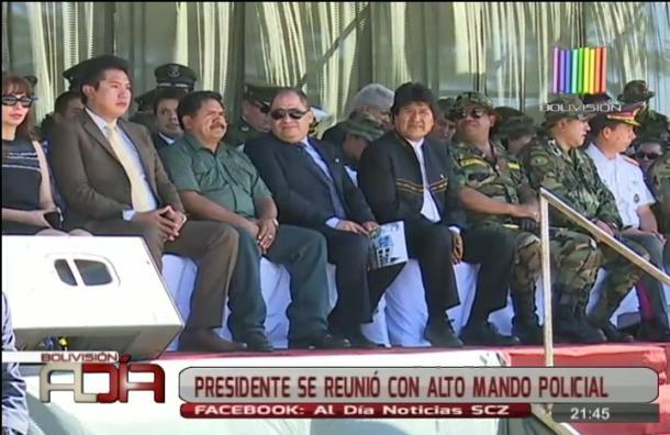 Presidente se reunió con alto mando policial